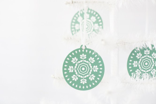 Minted holiday gifts and decor   geometric snowflake ornament set