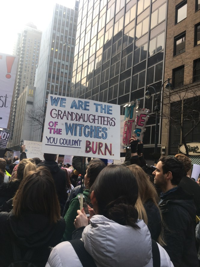 Best Women's March signs | we are the granddaughters of the witches you couldn't burn via the Cut