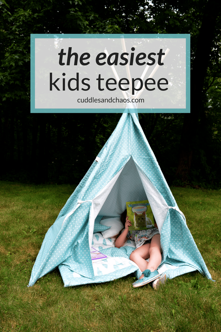 the easiest kids teepee | indoor outdoor kids play tent that you can assemble in minutes