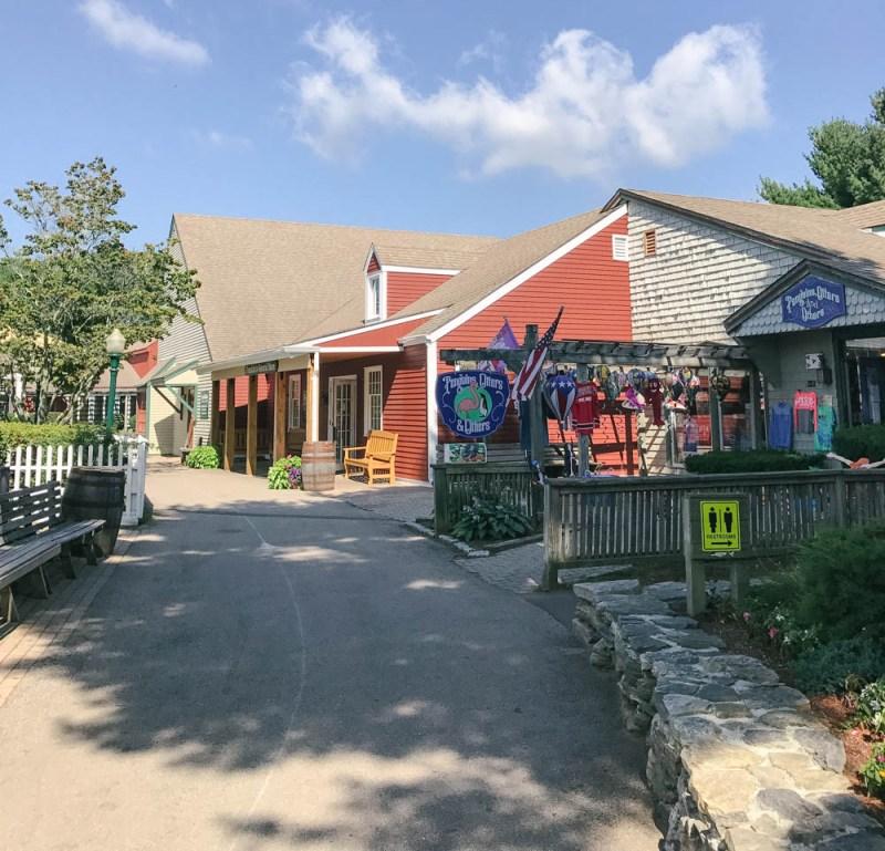 quaint little shops in Olde Mistick Village in Mystic, Connecticut
