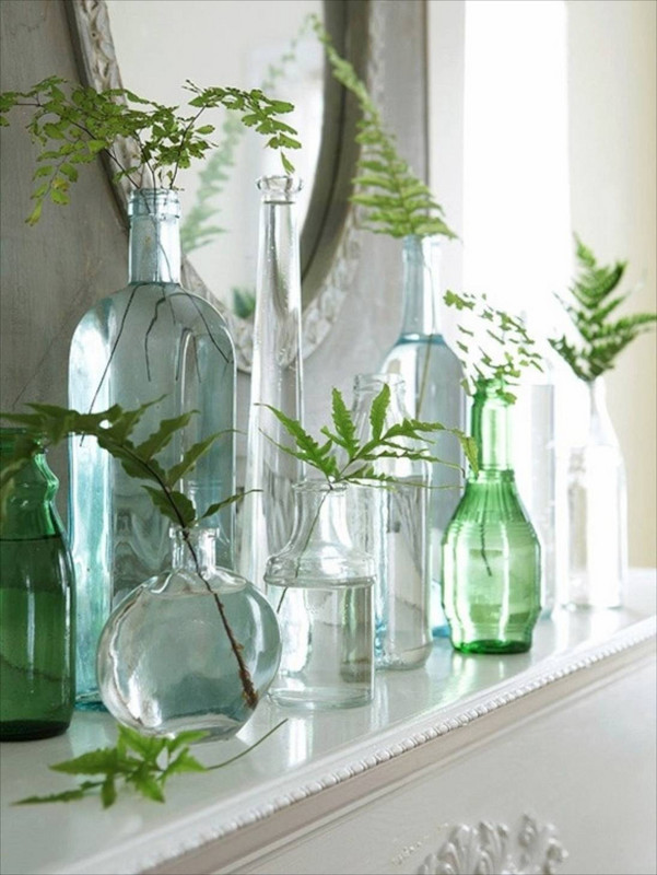 shelf styling tips - glass is great for grouping
