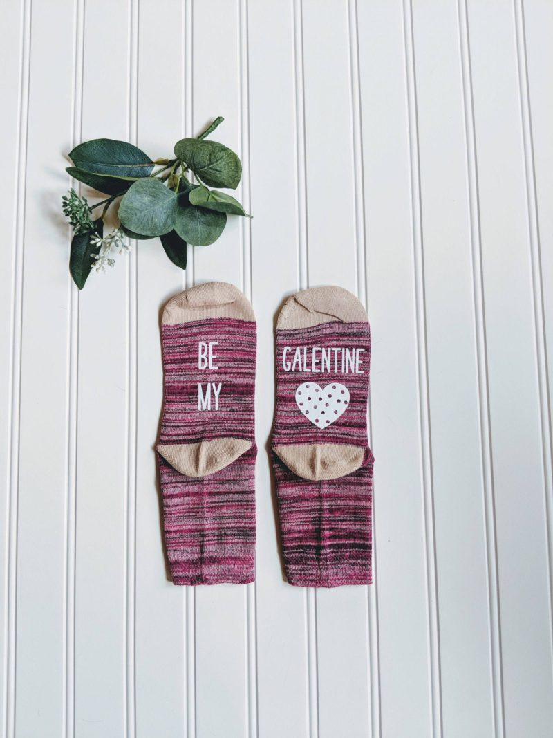 10 Fun Finds For Valentine's Day - be my galentine socks from It's Your Turn Socks