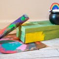 Book and a craft - The Gingerbread Man and the Leprechaun Loose at School - St. Patrick's Day activity - leprechaun trap