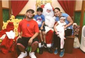 Family photo with Santa Claus at Wafi Mall