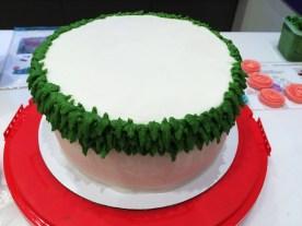 Wilton Course 1 Final Cake Leaf border
