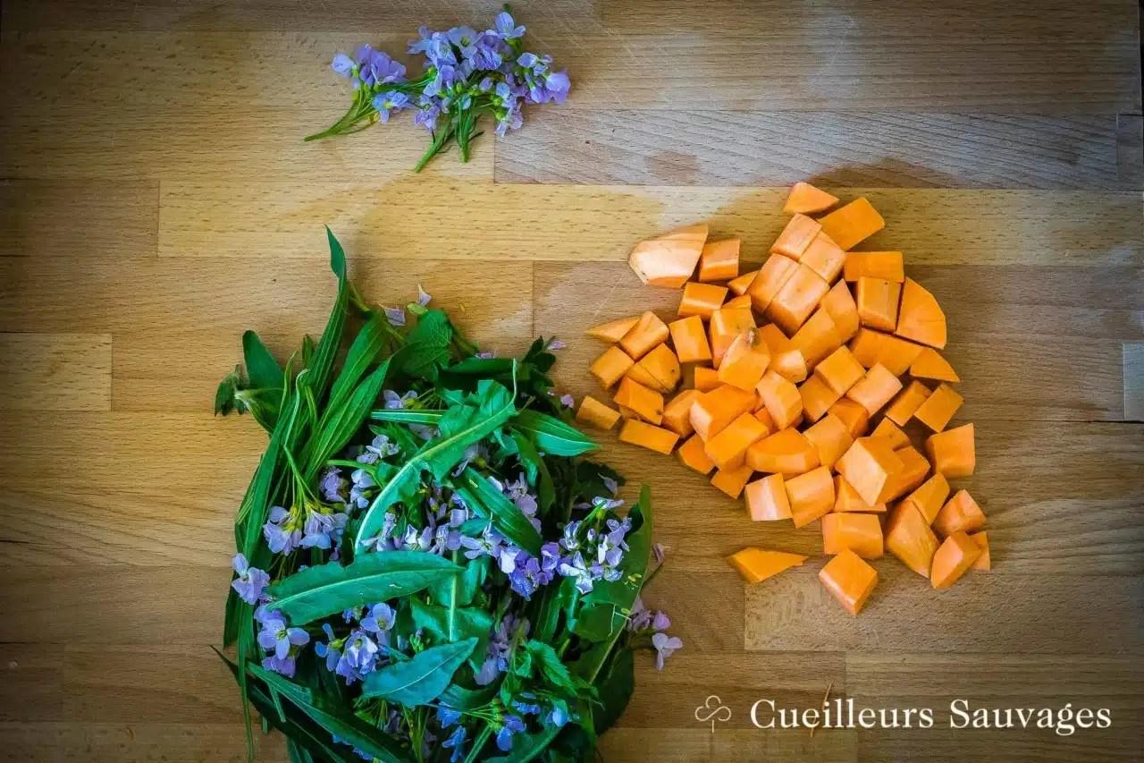 Sauté de légumes au plantain lancéolé. Cueilleurs Sauvages