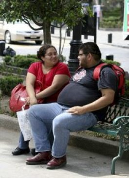 Mexicans rank almost as high as North Americans in obesity rates.
