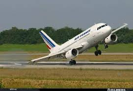Air France jet experience turbulence on take off.