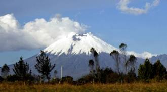 Cotopaxi, 50 miles south of Quito.