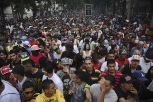 Protesters in Medellin, Colombia demanding legalization of marijuana in May rally.
