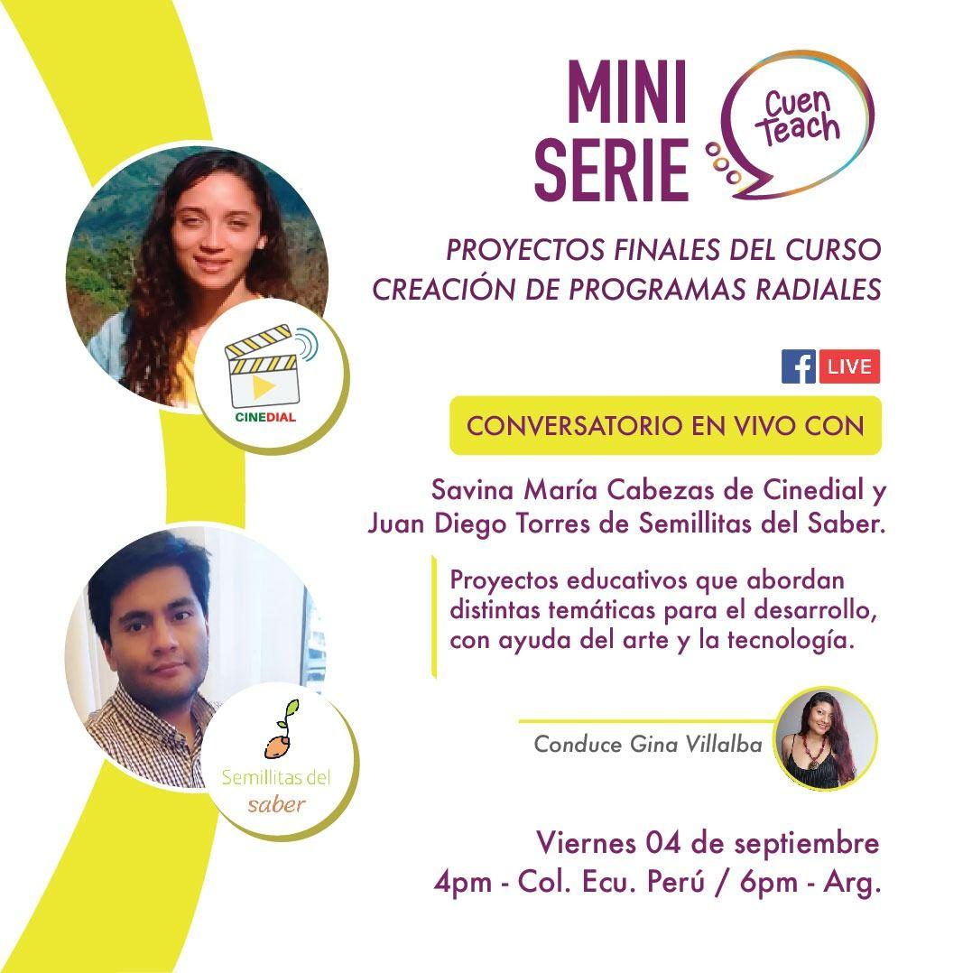 Facebook Live con Semillitas del saber, Cinedial y CuenTeach