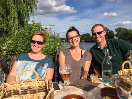 Barbara from Switzerland, Vanda from Hungary, and Andrew