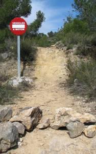 Problemas para la BTT en la Comunidad Valenciana 1