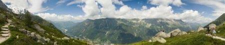 panoramica alpes valle chamonix