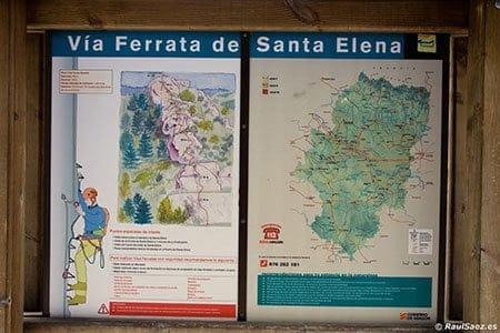 Panel informativo via ferrata Santa Elena