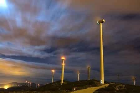 Aerogeneradores, fotografia nocturna en los molinos de Buñol 19