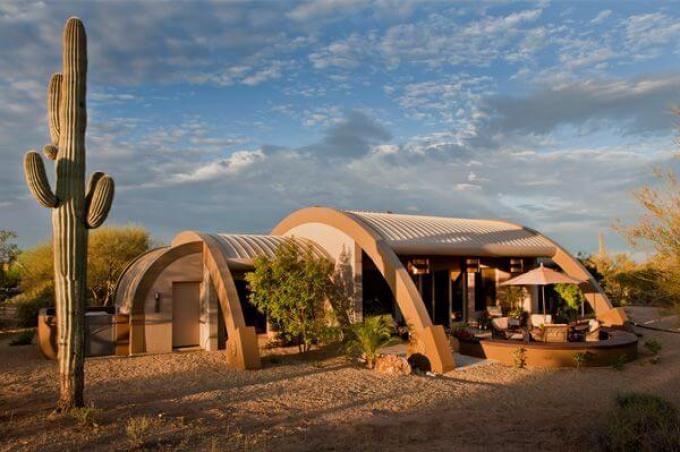 Desert motifs quonset hut homes