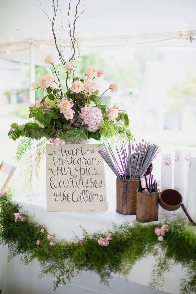 how to make a backdrop for wedding reception