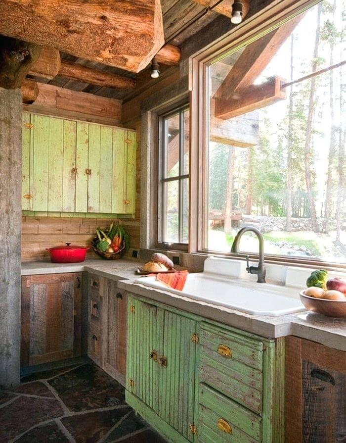 Rustic Vintage Kitchen Cabinets Inspiring Rustic Kitchen ... on Farmhouse Rustic Kitchen Ideas  id=69052