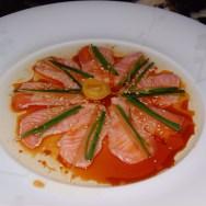 Salmon New Style Sashimi at NOBU
