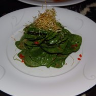 Spinach Dry Miso Salad at NOBU
