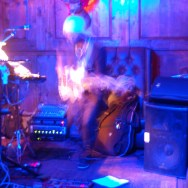 Andre Barry (Andre Electronica) jamming at The Basement Tavern