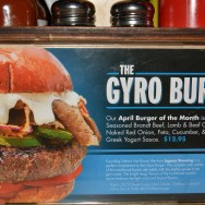 April 2014 Burger of The Month: The Gyro Burger at Slater's 50/50