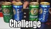 2 Cans Of Foster's Chug Challenge *Vomit Alert*