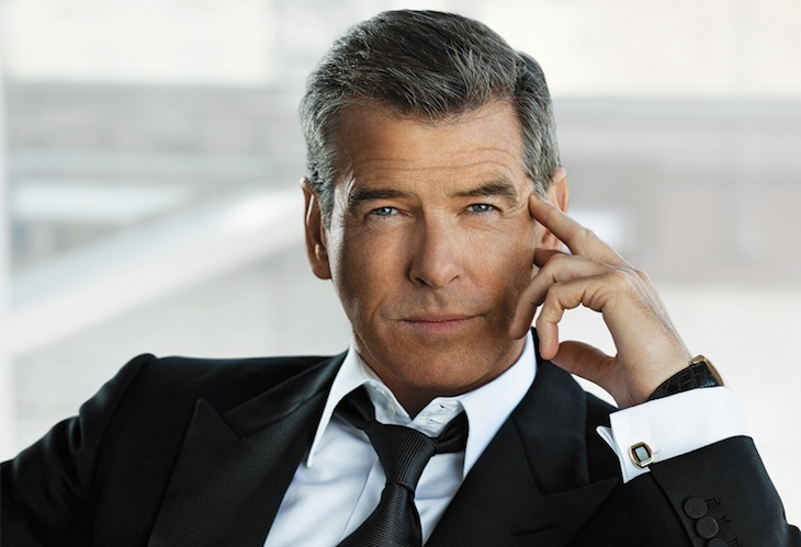 Pierce Brosnan with cufflinks