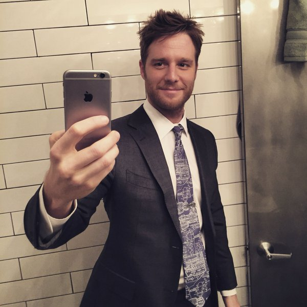 Jake McDorman with cufflinks