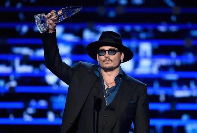 Johnny Depp with cufflinks