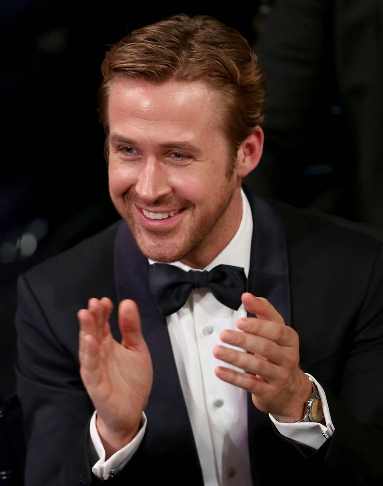 LOS ANGELES, CA - JANUARY 30: Actor Ryan Gosling attends The 22nd Annual Screen Actors Guild Awards at The Shrine Auditorium on January 30, 2016 in Los Angeles, California. 25650_018 (Photo by Christopher Polk/Getty Images for Turner)