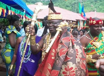 King Tossoh with Men's African jewelry