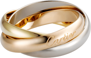 Cartier CLASSIC TRINITY GOLD RING FOR MEN, WHITE GOLD, YELLOW GOLD, PINK GOLD
