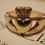 Claddagh gold rings for men