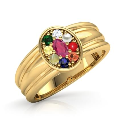 Navaratna Gold Rings for Men
