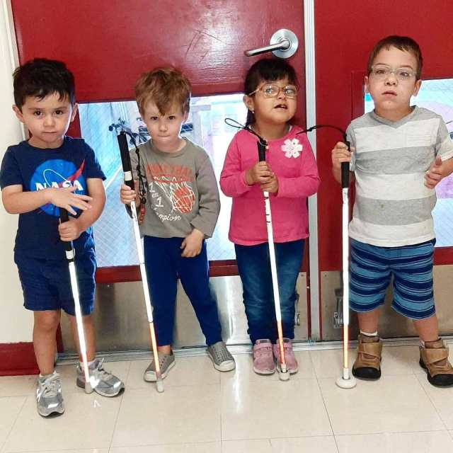 We're celebrating White Cane Day today at the Blind Children's Center! White Cane Safety Day has been observed annually in the United States since 1964 and celebrates the achievements of people who are blind or visually impaired using the symbol of the white cane, an important tool for independence. Check the educational activities that our students, both visually impaired and sighted, participated in together today on our story!