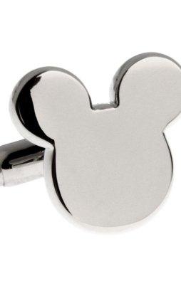 Cufflinks silver Mickey Mouse head.