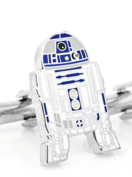 Metallic cufflinks of R2D2 Star Wars