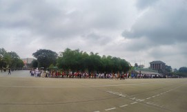 Back of queue at HCM Mausoleum, Hanoi