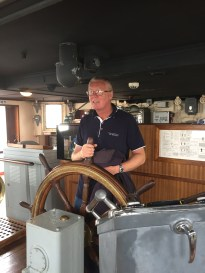 A1. La Rochelle - at the helm 29.7.17.