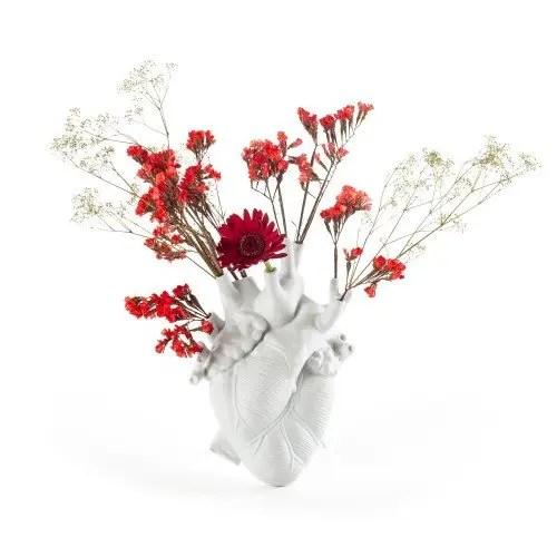 vaso love in bloom white seletti