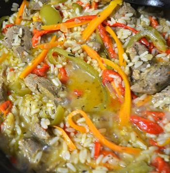 rață thai cu legume si orez