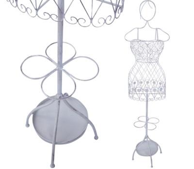 suport de umbrele și palton în formă de manechin de decor metalic
