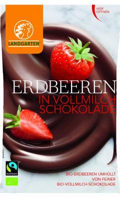căpșuni în ciocolată bio