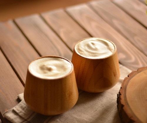 pahare set de 2 din bambus