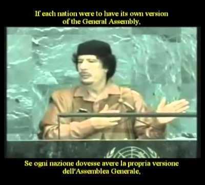 Muammar Gaddafi speech at United Nations General Assembly – 23 Sep 2009