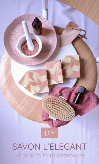 visuel pour épingler la recette de savon saponifié à froid sur Pinterest