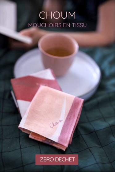 photo d'un mouchoir en tissu bio Choum