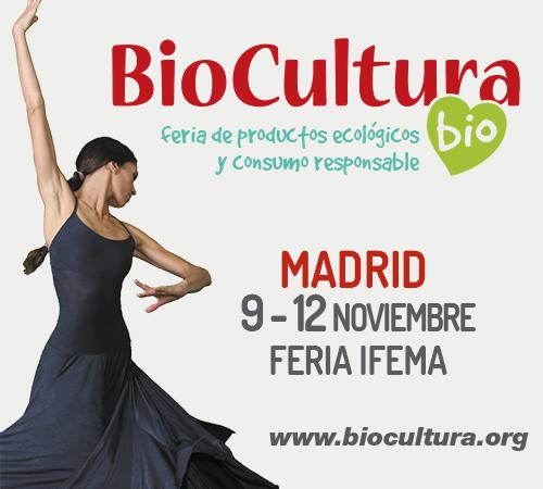BioCultura Madrid Feria de de productos ecológicos y consumo responsable. Del 9 al 12 de noviembre en Ifema. Vía www.biocultura.org